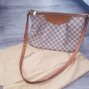 LOUIS VUITTON Damier Azur Siracusa PM Bag